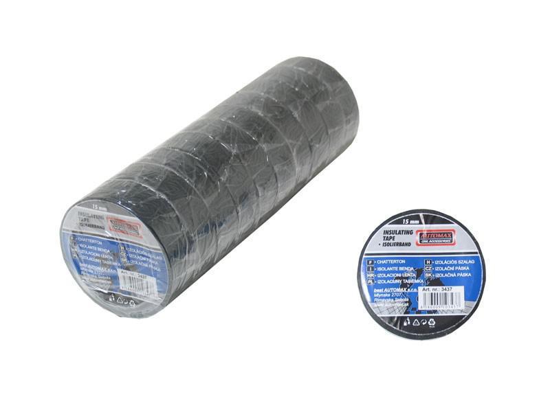 Izolační páska 15mmx10m černá Automax