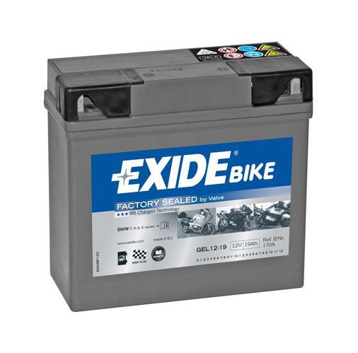 Motobaterie Exide Bike GEL 12V, 19Ah, GEL12-19 (51913-BMW)