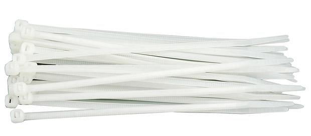 Vorel páska stahovací 100 x 2,5 mm 100 ks bílá TO-73882