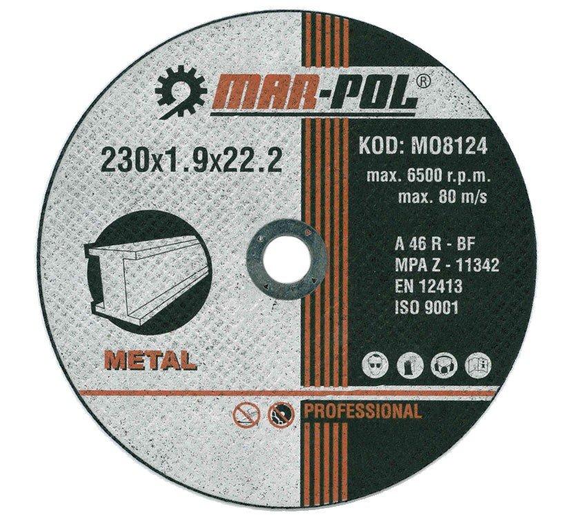 Kotouč řezný na kov, 230x1,9x22,2mm MAR-POL M08124